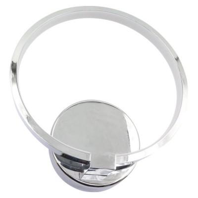 Χρώμιο απλίκα LED περιμετρικού φωτισμού δαχτυλίδι Ø19cm