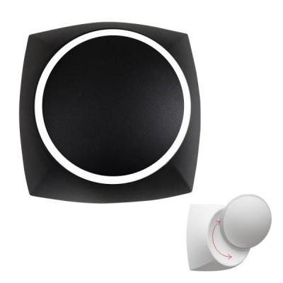Μαύρη απλίκα LED 120° με κινητή κεφαλή