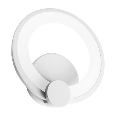 Λευκή απλίκα δαχτυλίδι Ø19cm LED 180°