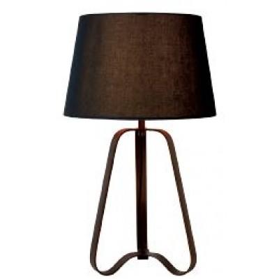 Επιτραπέζιο φωτιστικό 64cm με μεταλλική βάση και υφασμάτινο καπέλο Ø38cm
