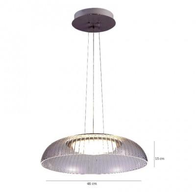 Κρεμαστό φωτιστικό LED Ø46cm ανάγλυφο ακρυλικό