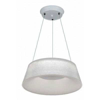 Λευκό κρεμαστό φωτιστικό LED Ø46cm με ακρυλικό