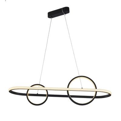 Μοντέρνο κρεμαστό φωτιστικό 120cm αφαιρετικής σχεδίασης σε μαύρο χρώμα LED