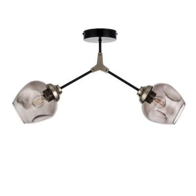 Δίφωτο οροφής 60cm με γυάλινες κεφαλές