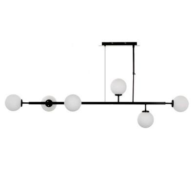 Γραμμικό κρεμαστό φωτιστικό 130cm με έξι γλόμπους Ø13cm
