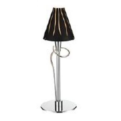 Επιτραπέζιο φωτιστικό 40cm με γυάλινο μαύρο καπέλο και χρυσές λεπτομέρειες