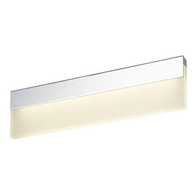 Χρώμιο απλίκα LED 4000K γραμμική 19x6cm