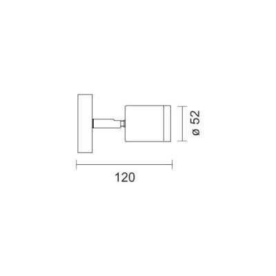 Νίκελ σποτάκι Ø5cm LED με διακόπτη On-Off
