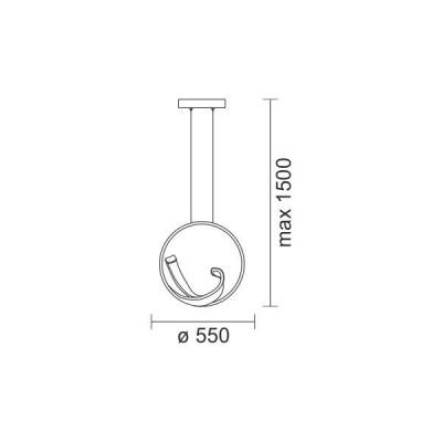 Κρεμαστό φωτιστικό LED 50W Ø55cm