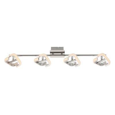 Τετράφωτο φωτιστικό οροφής χρώμιο 70cm LED