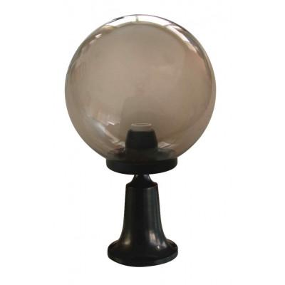 Στεγανό φωτιστικό δαπέδου 35cm αλουμινένιο με ακρυλικό γλόμπο Φ20cm