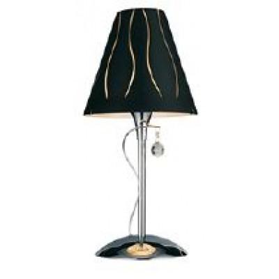 Επιτραπέζιο φωτιστικό 52cm με γυάλινο μαύρο καπέλο και διακοσμητικό κρυσταλλάκι