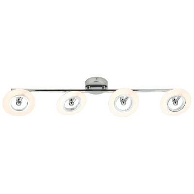 Τετράφωτη ράγα οροφής LED 360° χρώμιο 73cm