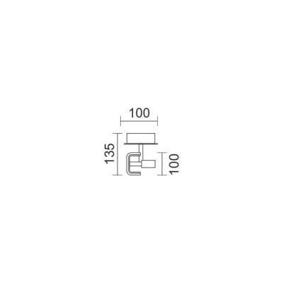 Σποτ οροφής LED χρώμιο 10x10cm