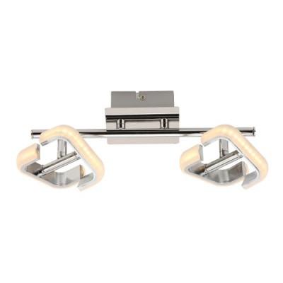 Δίφωτη ράγα οροφής LED χρώμιο 32cm