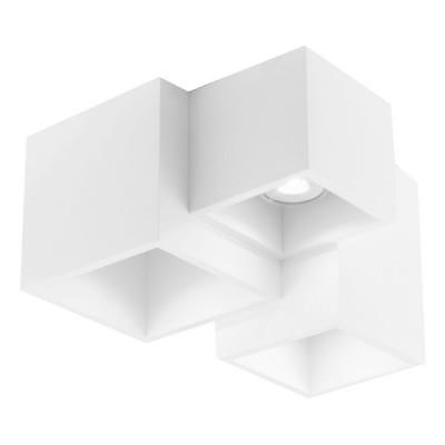 Γύψινο φωτιστικό οροφής με κύβους Ø24cm τρίφωτο GU10