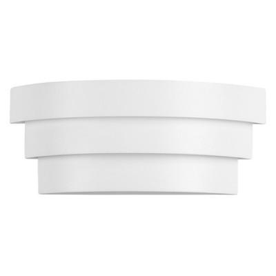 Μεταλλική απλίκα LED ημικυκλική με επίπεδα 18x7cm