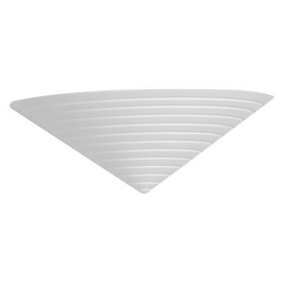 Γύψινη απλίκα τριγωνική με ραβδώσεις 24cm G9