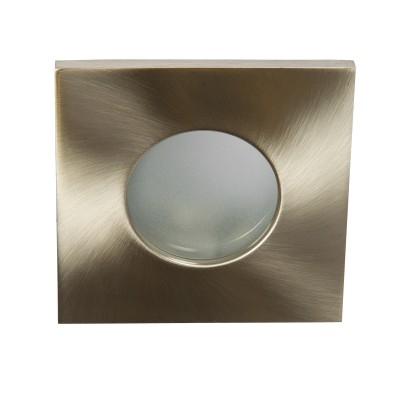 Στεγανό χωνευτό μεταλλικό σποτ 8.5x8.5cm με γυαλί 12V