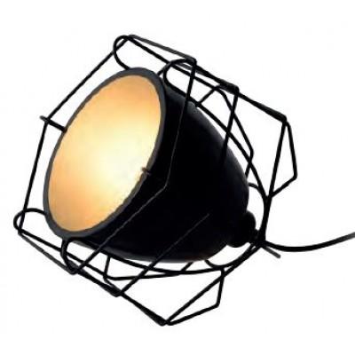 Μαύρο πορτατίφ 16cm με μεταλλική καμπάνα Ø20cm και γεωμετρικό πλέγμα