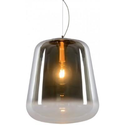 Κρεμαστό φωτιστικό Ø45cm με γυάλινη φιμέ καμπάνα