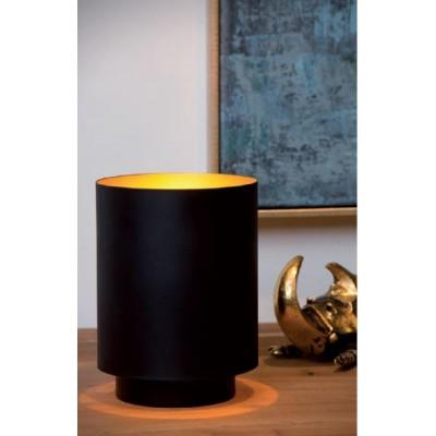 Κυλινδρικό πορτατίφ Ø12cm σε μαύρο-χρυσό χρώμα
