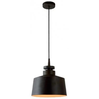Industrial μεταλλικό φωτιστικό Ø30cm σε σκούρο καφέ χρώμα