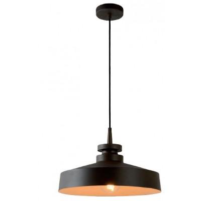 Industrial μεταλλικό φωτιστικό Ø40cm σε σκούρο καφέ χρώμα