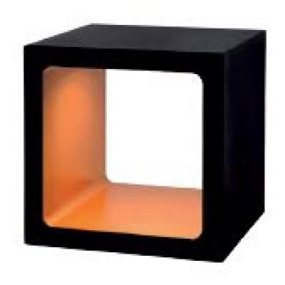 Μαύρο πορτατίφ LED κύβος 10x10cm με διακόπτη αφής On/Off
