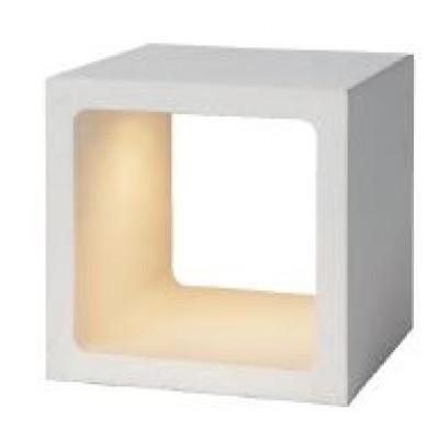 Λευκό πορτατίφ LED κύβος 10x10cm με διακόπτη αφής On/Off