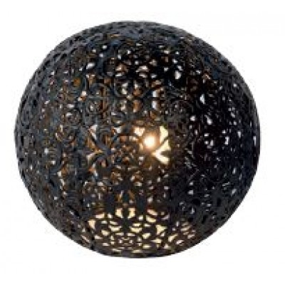 Retro πορτατίφ μαύρη μπάλα Ø15cm σε μαροκινό στυλ
