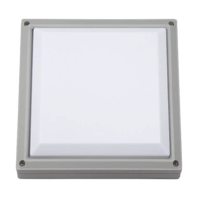 Μονόφωτη στεγανή απλίκα αλουμινίου τετράγωνη