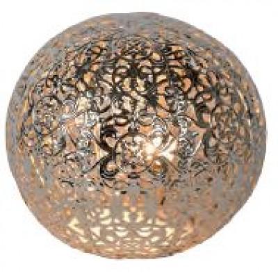 Retro πορτατίφ ασημί μπάλα Ø15cm σε μαροκινό στυλ