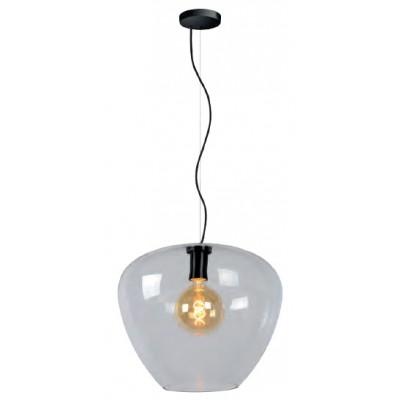 Κρεμαστό φωτιστικό Ø40cm με διάφανη γυάλινη καμπάνα