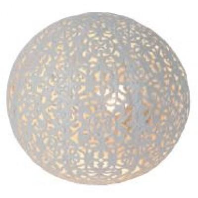 Retro πορτατίφ λευκή μπάλα Ø15cm σε μαροκινό στυλ