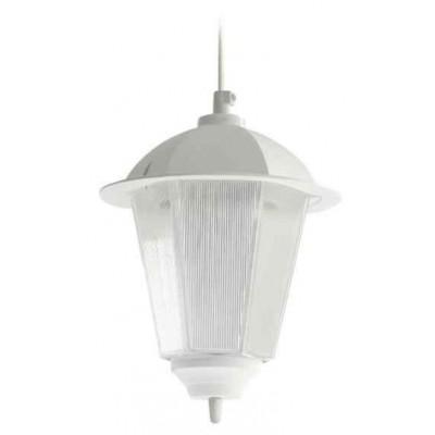 Στεγανό κρεμαστό φωτιστικό Φ18cm πλαστικό με διάφανο πολυκαρβονικό