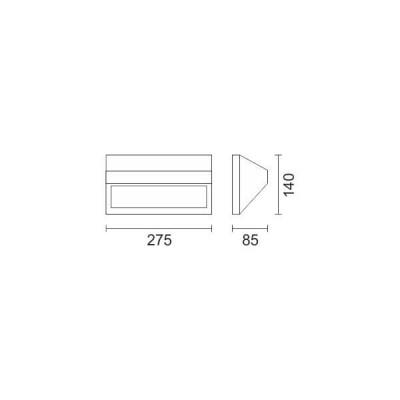 Μονόφωτη τριγωνική απλίκα 27x14cm