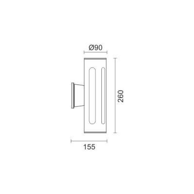 Δίφωτη απλίκα E27 διάχυτου φωτισμού Ø9cm