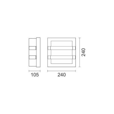 Ασημί απλίκα αλουμιίου 24x24cm