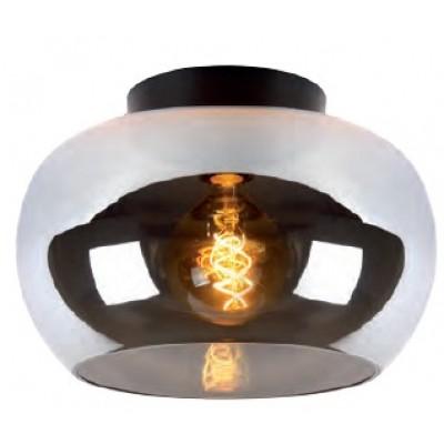 Φωτιστικό οροφής Ø31cm με γυάλινη φιμέ γυάλα