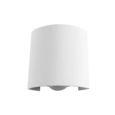 Οβάλ λευκή απλίκα Ø9cm στεγανή LED Up-Down 60°