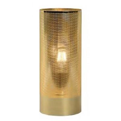 Χρυσό κυλινδρικό πορτατίφ Ø12x30cm με τρυπητό περίβλημα