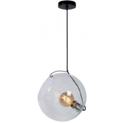 Γυάλινο κρεμαστό φωτιστικό Ø30cm με ντουί μέσα σε γυάλα