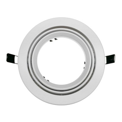 Χωνευτή στρογγυλή βάση για spot AR111 φ172mm λευκή κινητή