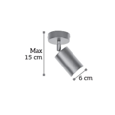 Σποτ χρυσαφί μεταλλικό Φ6cm περιστρεφόμενο