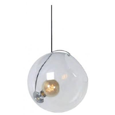 Γυάλινο κρεμαστό φωτιστικό Ø40cm με ντουί μέσα σε γυάλα