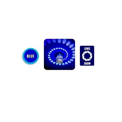 Φωτιστικό Τοίχου Αρχιτεκτονικού Φωτισμού IP44 360° LED BLUE