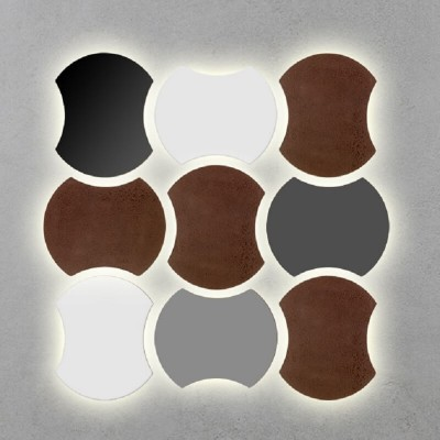 Μοντέρα απλίκα τοίχου 25x30cm με έμμεσο φωτισμό backlight