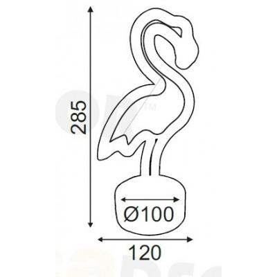Παιδικό πορτατίφ LED φλαμίνγκο 29cm