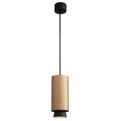 Κρεμαστό κυλινδρικό φωτιστικό Ø8cm σε χρυσοχάλκινο χρώμα